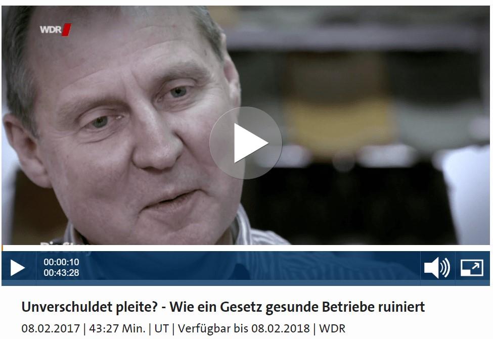 Insolvenzanfechtungsversicherung vom WDR erklärt