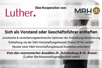 Geschäftsführerhaftung & D&O-Verschaffungsklausel von Luther