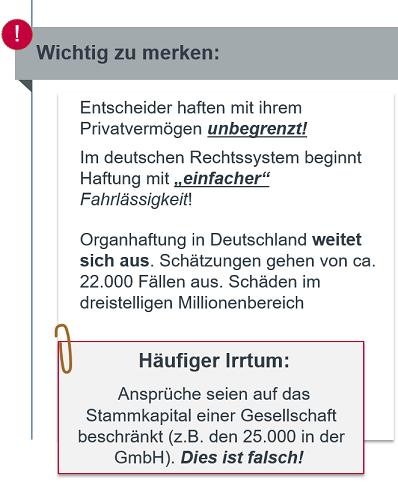 Geschäftsführerhaftung: Häufigste Irrtürmer
