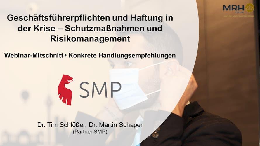Geschäftsführerhaftung & pflichten - Webinar MRH Trowe und SMP