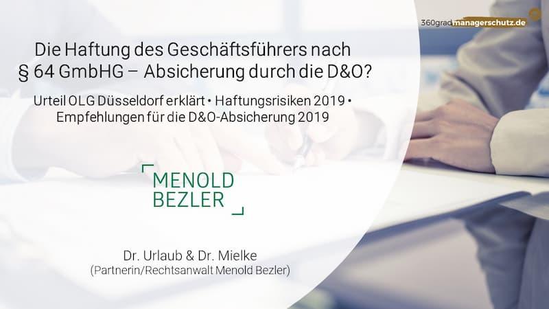 §64 GmbH Gesetz 2019