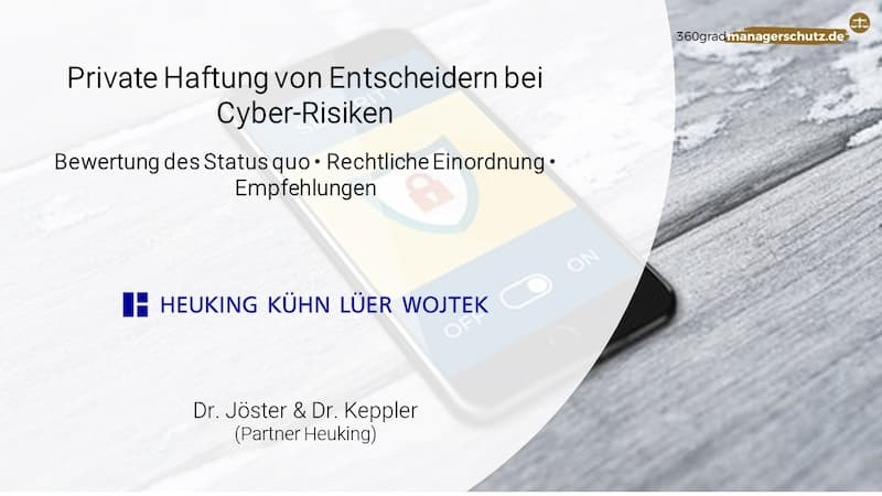 Cyberhaftung der Geschäftsleitung