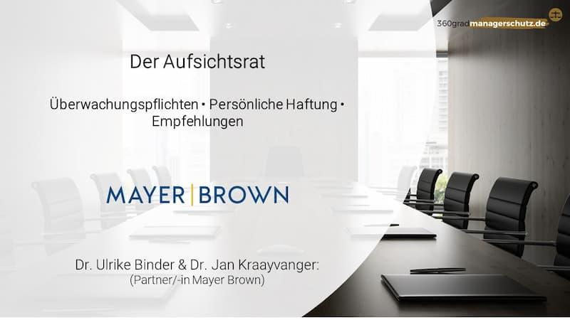Haftung Aufsichtsrat Mayer Brown